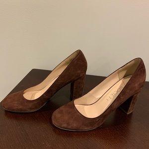 Dark red, suede heels - Sole Society